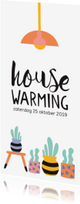 Uitnodigingen - Uitnodiging housewarming cactus