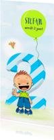 Kinderfeestjes - Uitnodiging jongen 2 jaar