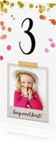 Kinderfeestjes - Uitnodiging kinderfeestje meisje met confetti hartjes