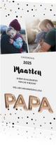 Vaderdag kaarten - Vaderdag gouden ballonnen PAPA