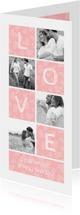 Valentijnskaart Love met foto's en hartjes