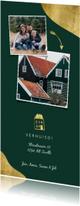 Verhuiskaarten - Verhuiskaart met foto's en gouden accenten