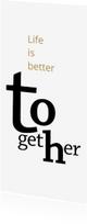Verhuiskaarten - Verhuizen typografie samenwonen