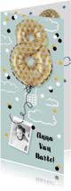 Verjaardagskaarten - Verjaardagskaart  8 jaar luchtballon