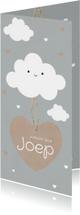 Geboortekaartjes - Wolken geboorte kaartje