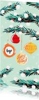 Zakelijke kerstkaarten - Zakelijke Kerstkaart Dennentakken