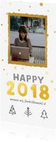 Zakelijke kerstkaarten - Zakelijke kerstkaart happy 2018
