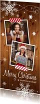 Zakelijke kerstkaart langwerpig hout foto