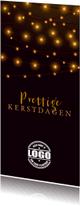 Zakelijke kerstkaarten - Zakelijke kerstkaart met sfeerlichtjes op de achtergrond