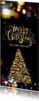 Zakelijke kerstkaarten - Zakelijke kerstkaart neon lichtjes - LO