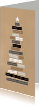 Zakelijke kerstkaarten - Zakelijke kerstkaart typografie langwerpig - BC
