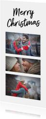 Kerstkaart collage 3 foto's langwerpig