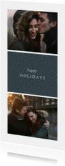 Kerstkaart 'happy holidays' met foto's en stippen