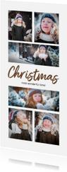 Kerstkaart langwerpig collage 6 foto's
