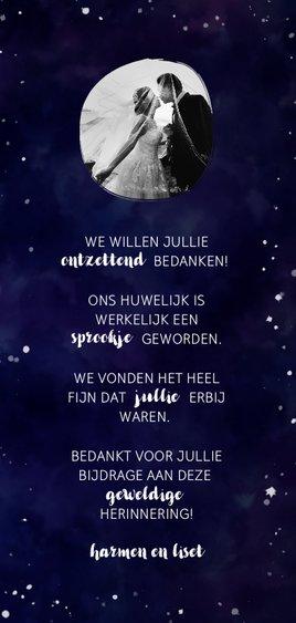 Bedankkaart 'LOVE' Galaxy Achterkant