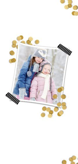 Confetti goud en 2 foto's - BK 2