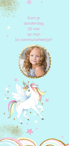 Eerste communie unicorn 2