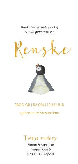 Geboortekaart pinguïn familie illustratie 3