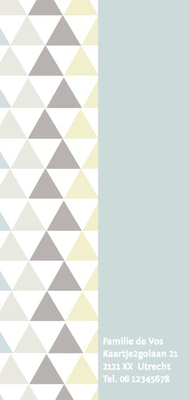 Geboortekaartje driehoek strak en stoer 2