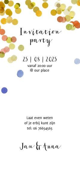 jubileum kaart hip foto polaroid confetti Achterkant