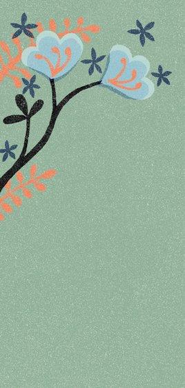 jubileumkaart bloemen abstract trots 2