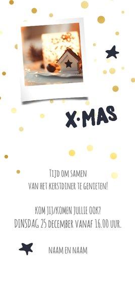 Kerstdiner uitnodiging / ZO Achterkant