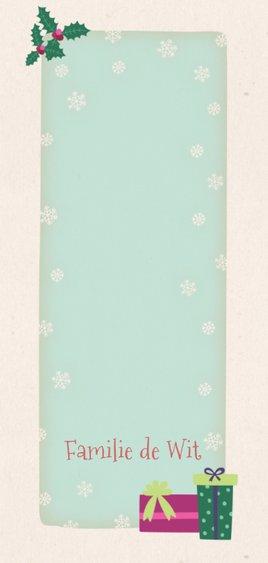 Kerstkaart langwerpig ijsbeer - BK Achterkant