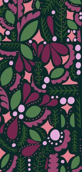Kerstkaart 'MERRY' dubbel met illustraties 2