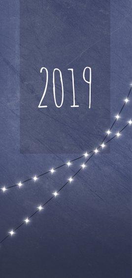 Kerstkaart met foto en lichtjes 2019 2