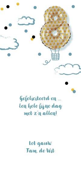 Kinderfeestje  acht  jaar luchtballon 3