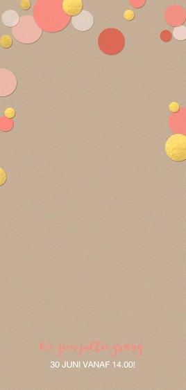 Kinderfeestje confetti zalm Achterkant