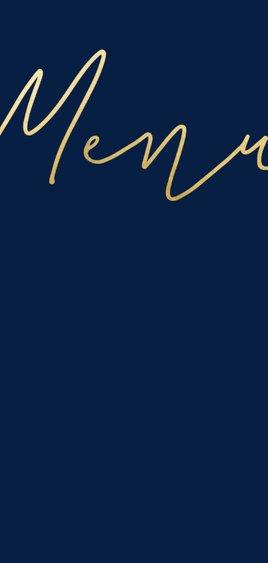 Menukaart met gouden 'MENU' langwerpig dubbel 2
