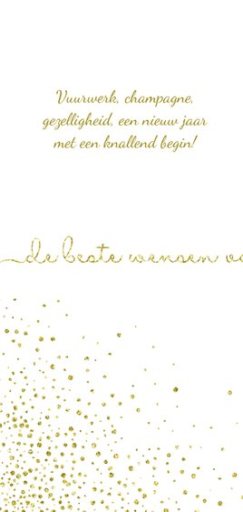 Nieuwjaarskaart glittereffect wit met'tweeduizendnegentien'  2