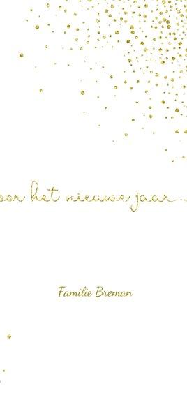 Nieuwjaarskaart glittereffect wit met'tweeduizendnegentien'  3