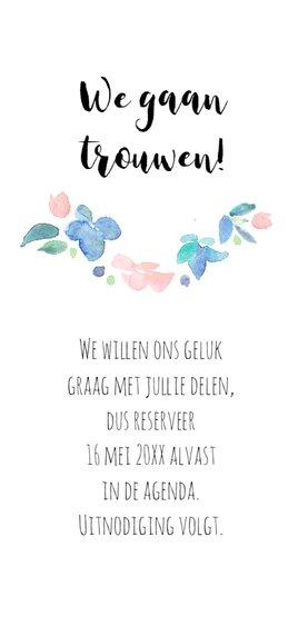 Save the date, aquarel bloemen 3