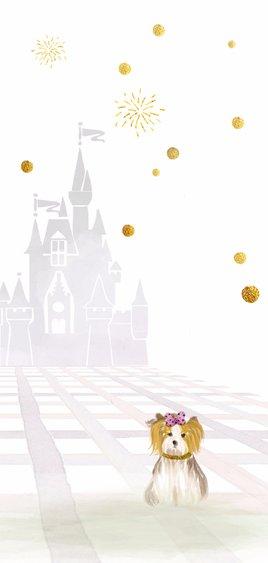 Uitnodiging met thema sprookje 2