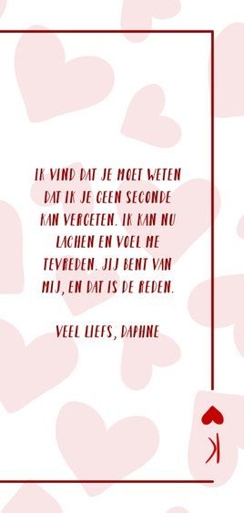 Valentijnskaart You are the king of my heart met hartjes 3