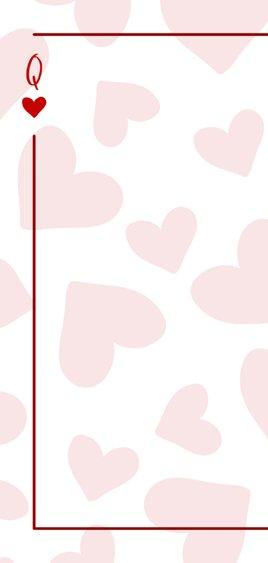 Valentijnskaart You are the queen of my heart met hartjes 2