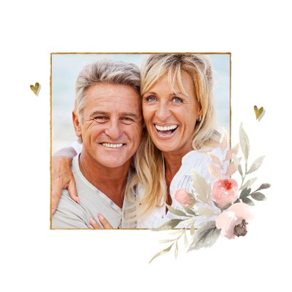 40 jaar getrouwd pastel watercolor bloemen  2