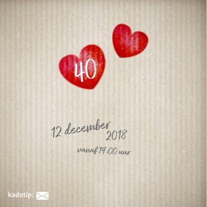 40 jaar huwelijk hart - uitnodiging 2