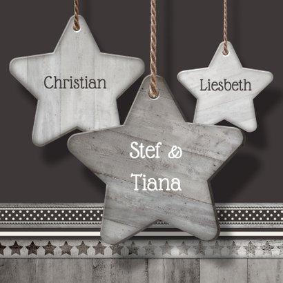 Antraciet houten sterren - BK 3