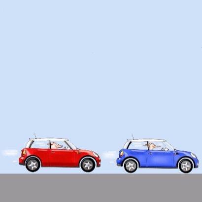 auto mini cooper blauw 3