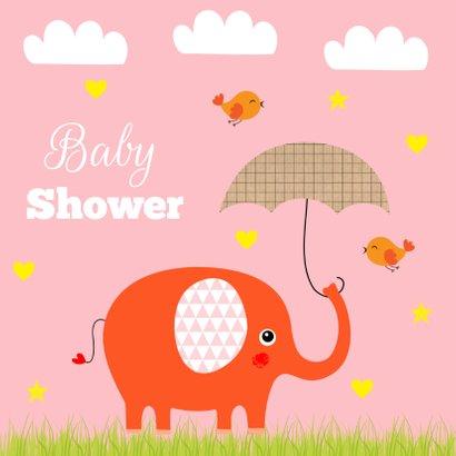 Babyshower olifantje roze 2