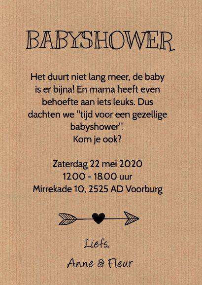 Babyshower uitnodiging wolkje hartjes  3