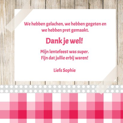 Bedankkaart Lentefeest - DH 3