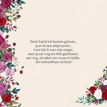 Bedankkaart met rozen 2