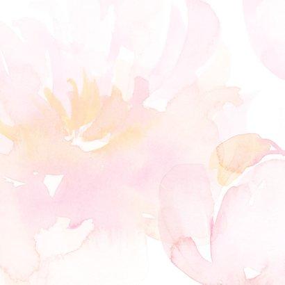 Bedankkaart trouw rozen met foto 2