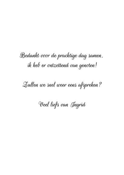 Bedankkaart vriend(in) met handlettering tekst en eigen foto 3