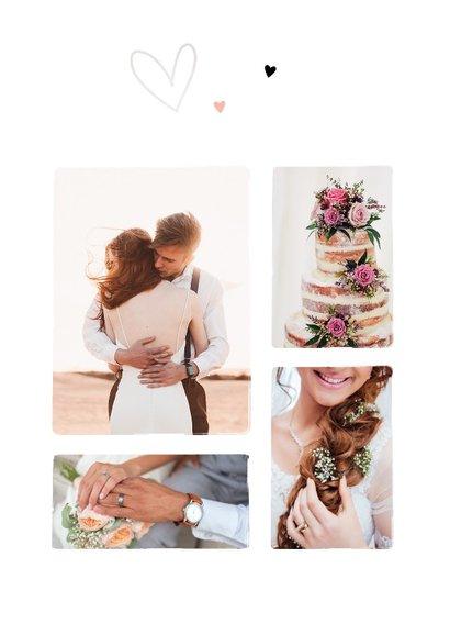 Bedankkaartje bruiloft Bohemian met bloemen 2