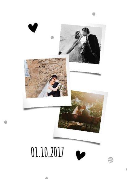 Bedanktkaartje bruiloft met foto's  2